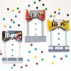 M&Ms Bow Tie Card For Father's Day