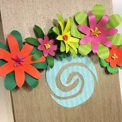 Giant Paper Flowers For A Moana Party