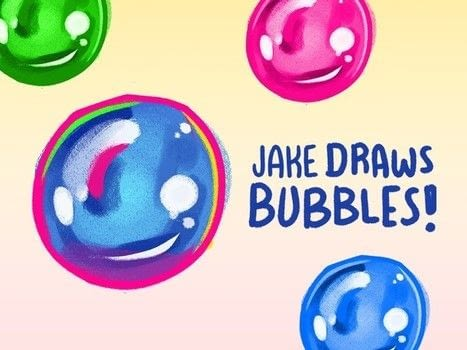 Tutorial: Jake Draws Bubbles .  Free tutorial with pictures on how to make a computer art in under 5 minutes by creating with wacom tablet and adobe photoshop. How To posted by Jake Romano.  in the Art section Difficulty: Easy. Cost: No cost. Steps: 5