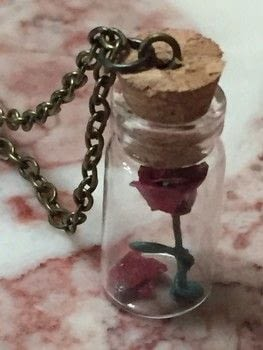 .  Decorate a bottle / jar in under 30 minutes Inspired by disney, beauty and the beast, and roses. Version posted by Kinhime Dragon. Difficulty: 4/5. Cost: No cost.