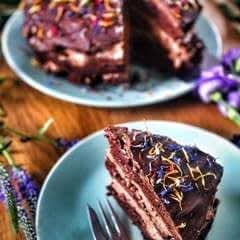 Rosemary Chocolate Mousse Cake