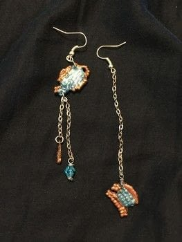Betsy Johnson inspired .  Make a pair of beaded earrings in under 165 minutes by creating, beading, constructing, decorating, embellishing, and wireworking with beads, earring hooks, and chains. Inspired by betsey johnson. Creation posted by Kinhime Dragon.  in the Jewelry section Difficulty: 5/5. Cost: No cost.