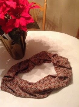 Here are some directions on how to make an infinity scarf  .  Free tutorial with pictures on how to make a scarf in under 60 minutes by machine sewing with fabric and thread. How To posted by Linda of Nice dress!  Thanks, I made it!!.  in the Sewing section Difficulty: Easy. Cost: No cost. Steps: 4