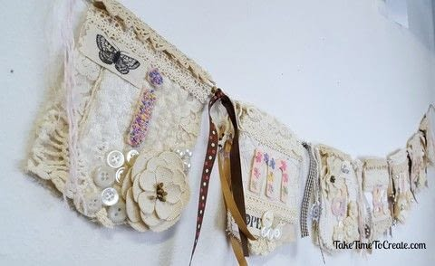 Create a beautiful embroidered garland  .  Free tutorial with pictures on how to make a garland in under 120 minutes by embroidering with ribbon, needle, and lace. How To posted by Linda S.  in the Needlework section Difficulty: Simple. Cost: Cheap. Steps: 4