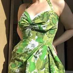Vintage Green Tiki Dress