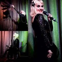 Black Sequin Cabaret Dress
