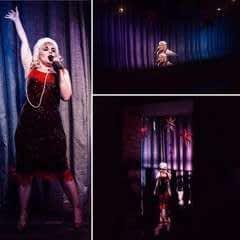 Red Velvet Cabaret Dress