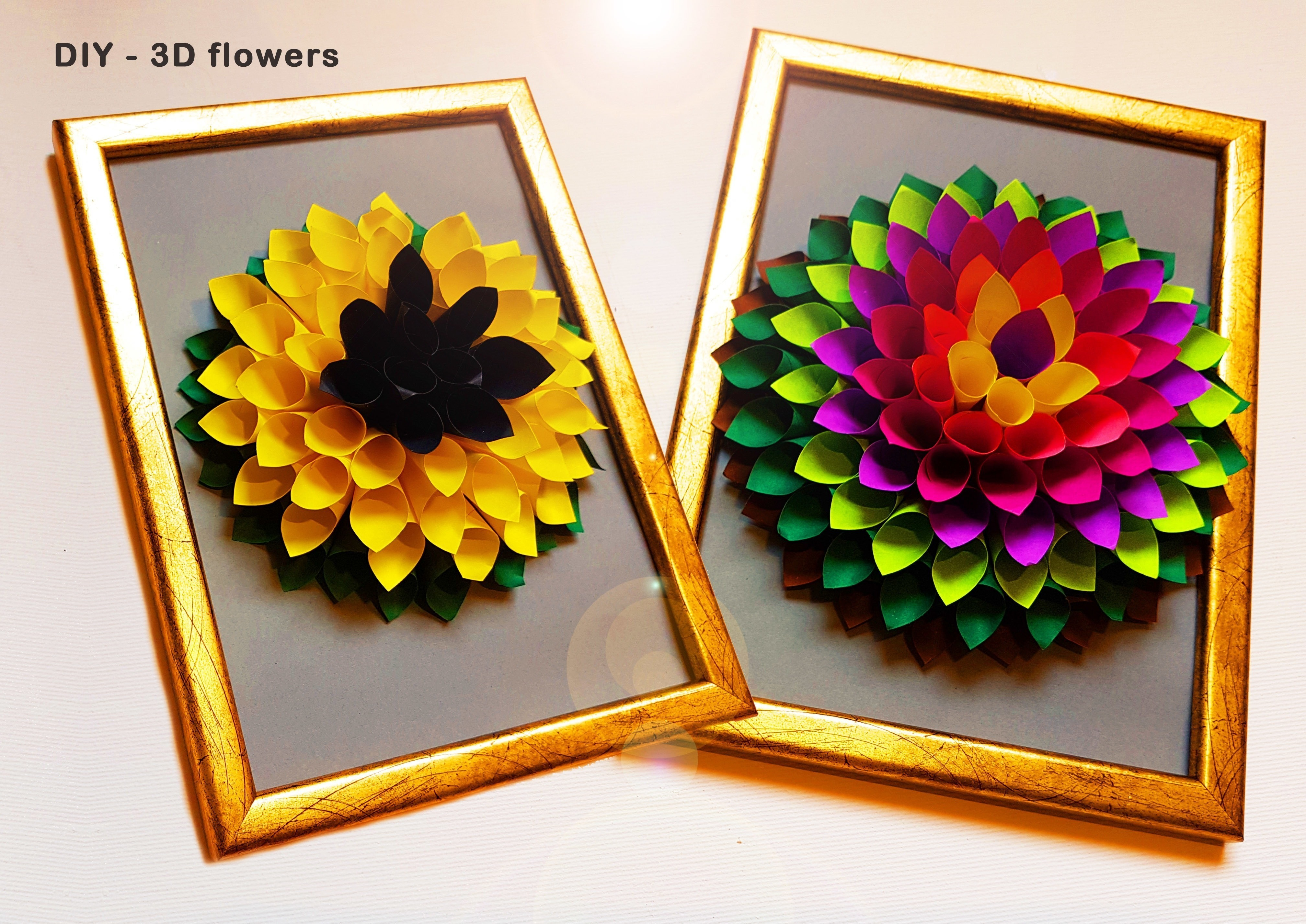 Diy 3 D Flower Gift Decor How To Make A Techniques Papercraft On