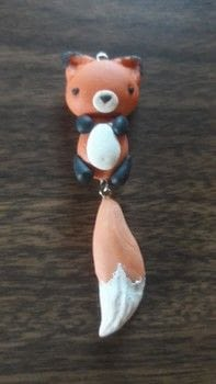 Fox cold porcelain clay necklaces animal charm cute wiggly  .  Sculpt a clay animal necklace in under 60 minutes using clay, eye pins, and sculpting tools. Inspired by foxes. Creation posted by DeadGirl.  in the Art section Difficulty: 3/5. Cost: No cost.