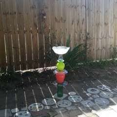 Glass Bird Bath
