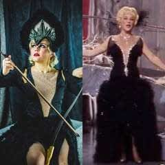 Black Cabaret Feather Dress