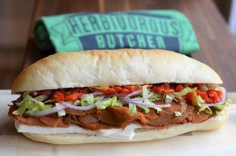 Cook a Vegan Italian Cold Cut Sandwich with The Herbivorous Butcher in Minneapolis .  Free tutorial with pictures on how to cook a sandwich in under 10 minutes by cooking with pastrami, ham, and pepperoni. Inspired by vegan. Recipe posted by A Bite To Eat.  in the Recipes section Difficulty: Simple. Cost: Cheap. Steps: 7