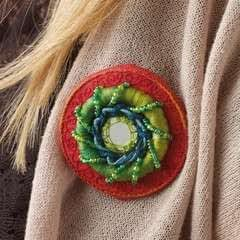 Raised Embroidery Brooch