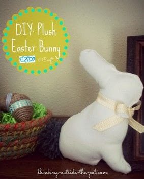 DIY Plush Easter Bunny .  Free tutorial with pictures on how to make an Easter basket in under 60 minutes Inspired by easter. How To posted by Charlene Asay.  in the Sewing section Difficulty: Simple. Cost: Cheap. Steps: 6