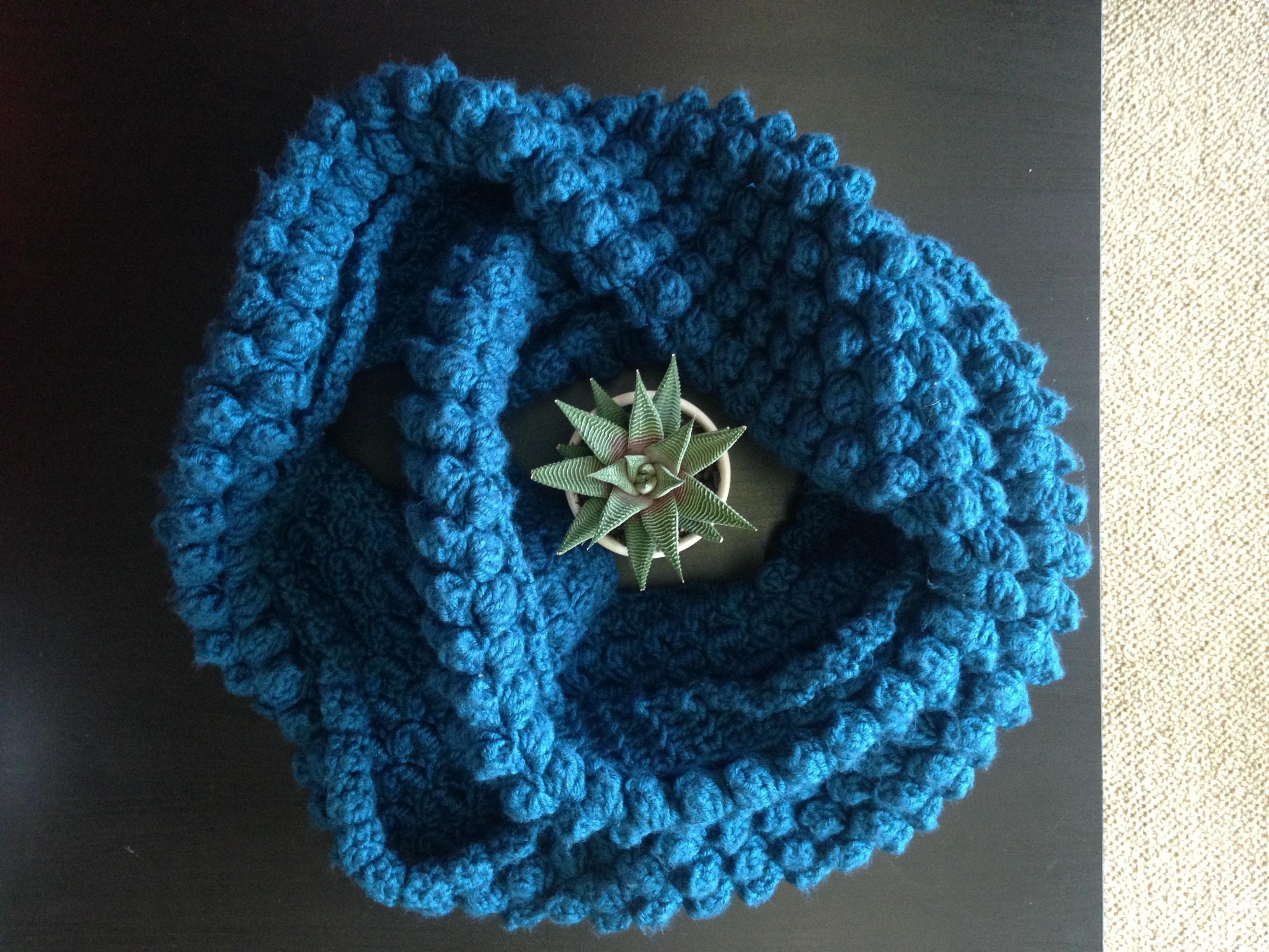 Studio Infinity Scarf How To Knit A Puff Stitch Scarf Yarncraft