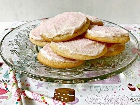 Pink lemonade concentrate gives these Pink Lemonade Cookies a tart treat inside and out. Frosted with a quick homemade icing and sprinkled with pink sugar crystals, the cookies will be a hit for a refreshing sweet summertime treat. .  Free tutorial with pictures on how to bake a sugar cookie in under 45 minutes by baking with package (1 lb.1.5 oz) sugar cookie mix, butter, softened, and egg. Recipe posted by Lisa K.  in the Recipes section Difficulty: Easy. Cost: 3/5. Steps: 4