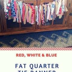 Red, White & Blue Fat Quarter Tie Banner