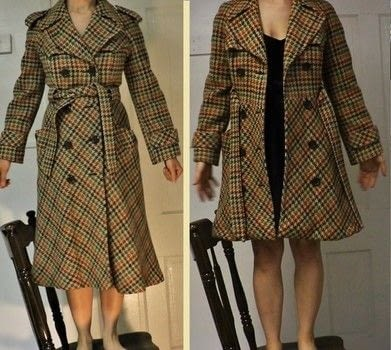 How to shorten a vintage coat by recreating the original hemline. .  Free tutorial with pictures on how to make a jacket / coat in under 120 minutes using sewing machine, needle and thread, and serger. How To posted by Rachel's Craft Channel.  in the Sewing section Difficulty: 3/5. Cost: No cost. Steps: 1