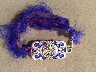 """Old belt? Don't """"waist"""" it, recreate it!  .  Free tutorial with pictures on how to make a recycled bracelet in under 60 minutes using belt, metal, and alcohol. How To posted by Tammie E. [TTE Designs].  in the Jewelry section Difficulty: Simple. Cost: Cheap. Steps: 7"""
