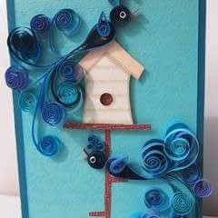 Quilled Bird Card