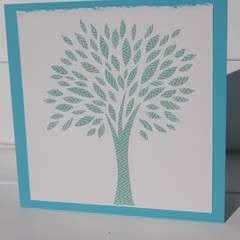 Paper Cut Tree Card