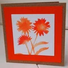 Floral Stencil Card