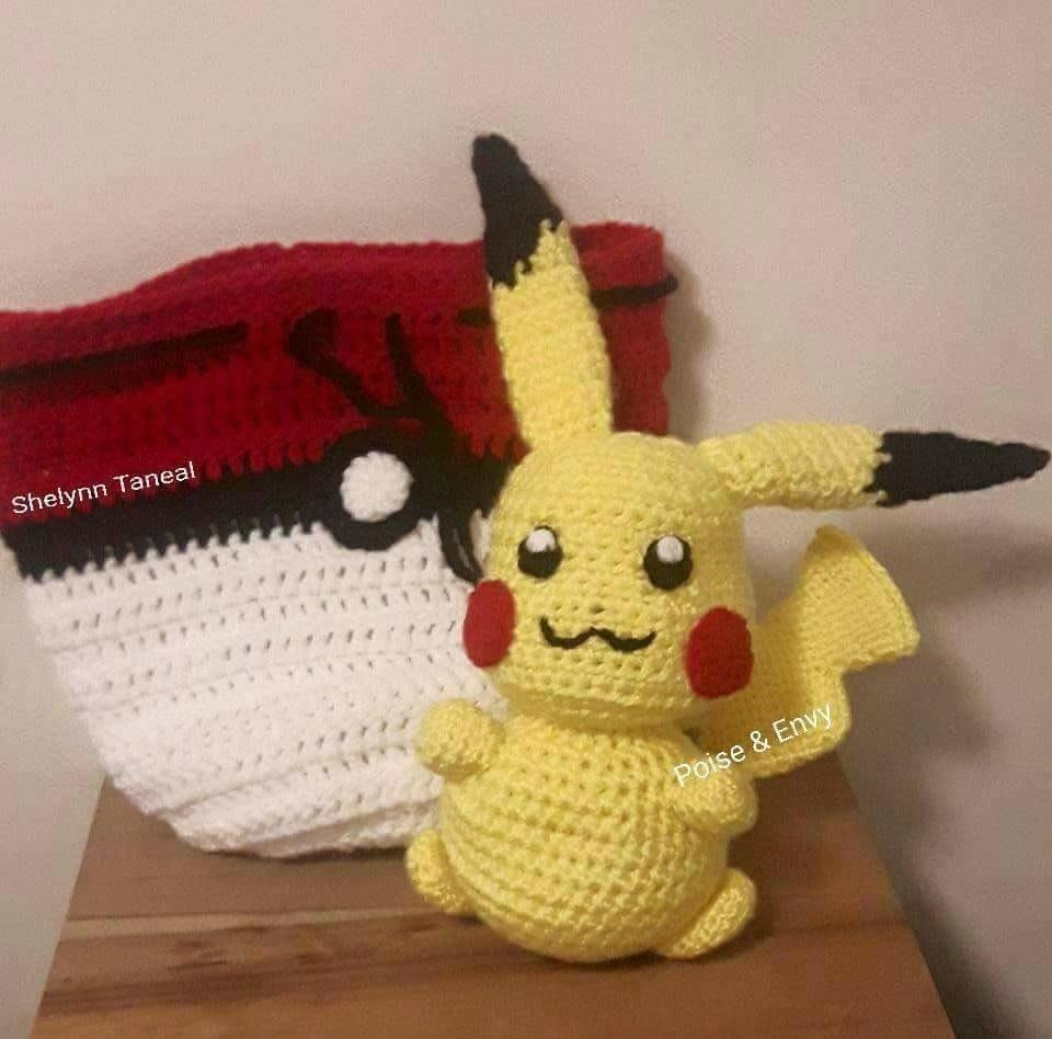 Pikachu Crochet Backpack von MyMagicCrochetUS auf Etsy | Pikachu ... | 948x960