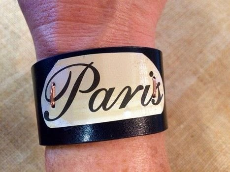Flea market finds become Paris chic designs .  Free tutorial with pictures on how to make a cuff in under 60 minutes by jewelrymaking and metalworking with belt, snips, and snaps. How To posted by Tammie E. [TTE Designs].  in the Jewelry section Difficulty: 3/5. Cost: Cheap. Steps: 6