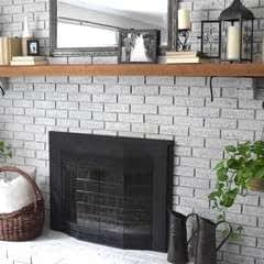How To Whitewash Your Brick Fireplace