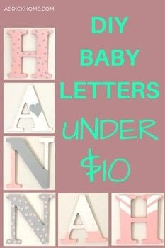DIY letters for a nursery that are under $10! .  Free tutorial with pictures on how to make a letter in under 120 minutes using acrylic paint, letters, and foam paintbrush. Inspired by babies and kids. How To posted by Marly D.  in the Art section Difficulty: Easy. Cost: Absolutley free. Steps: 4