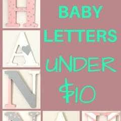 Pottery Barn Inspired Printed Letters