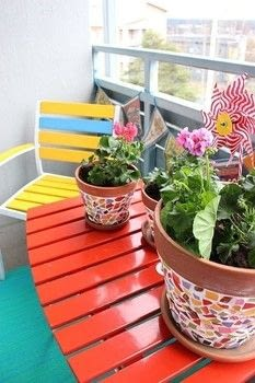 Great way to use broken china / pottery / leftover tile to add color to your home decor, balcony or garden. .  Free tutorial with pictures on how to make a mosaic vase in 7 steps using tiles, terra-cotta pot, and hammer. How To posted by Sannu Vaarala.  in the Home + DIY section Difficulty: 3/5. Cost: Cheap.