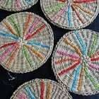 Colorful Rattan Coasters