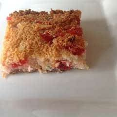Coconut & Cherry Slice