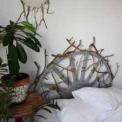 Eclectic Rattan Headboard Makeover