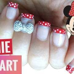 3 D Bow Disney Minnie Nail Art