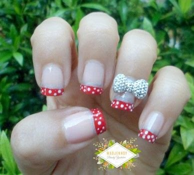 3 d bow disney minnie nail art · how to paint a character