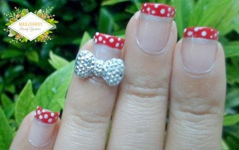 3 D Bow Disney Minnie Nail Art 183 How To Paint A Character Nail 183 Beauty On Cut Out Keep