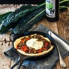 Deep Dish Pies With Cavolo Nero & Tomato Sauce