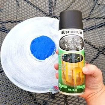 DIY Record Chalkboard .  Free tutorial with pictures on how to make an office accessory in under 30 minutes using vinyl record, primer, and chalkboard paint. How To posted by Linda S.  in the Decorating section Difficulty: Easy. Cost: Cheap. Steps: 4