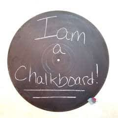 Diy Record Chalkboard