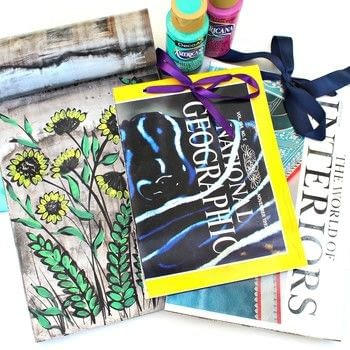 Magazine Art and Junk Journals .  Free tutorial with pictures on how to make a piece of recycled art in under 60 minutes by creating, drawing, bookbinding, scrapbooking, and not sewing with ribbon, drill, and saw. How To posted by Mark Montano.  in the Art section Difficulty: Easy. Cost: No cost. Steps: 3