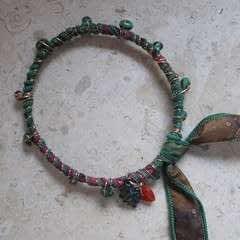 Sari Silk Wrapped Bangle Bracelet