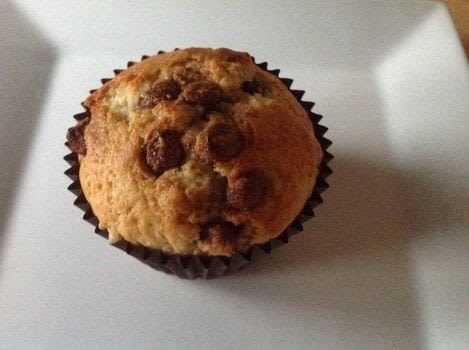 Chocolate chip muffins  .  Free tutorial with pictures on how to bake a muffin in under 35 minutes by cooking and baking with plain flour, sugar, and baking powder. Recipe posted by Super Madcow.  in the Recipes section Difficulty: Easy. Cost: Cheap. Steps: 6