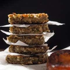 Lentil Rissoles With Fried Tomatoes