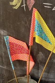 Fat Quarter: Quick Makes .  Free tutorial with pictures on how to make a flag in under 120 minutes by sewing with fat quarter, fabric, and fabric. How To posted by GMC Group.  in the Sewing section Difficulty: Simple. Cost: Cheap. Steps: 7