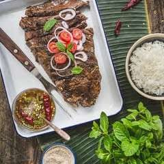 Crying Tiger Grilled Steak