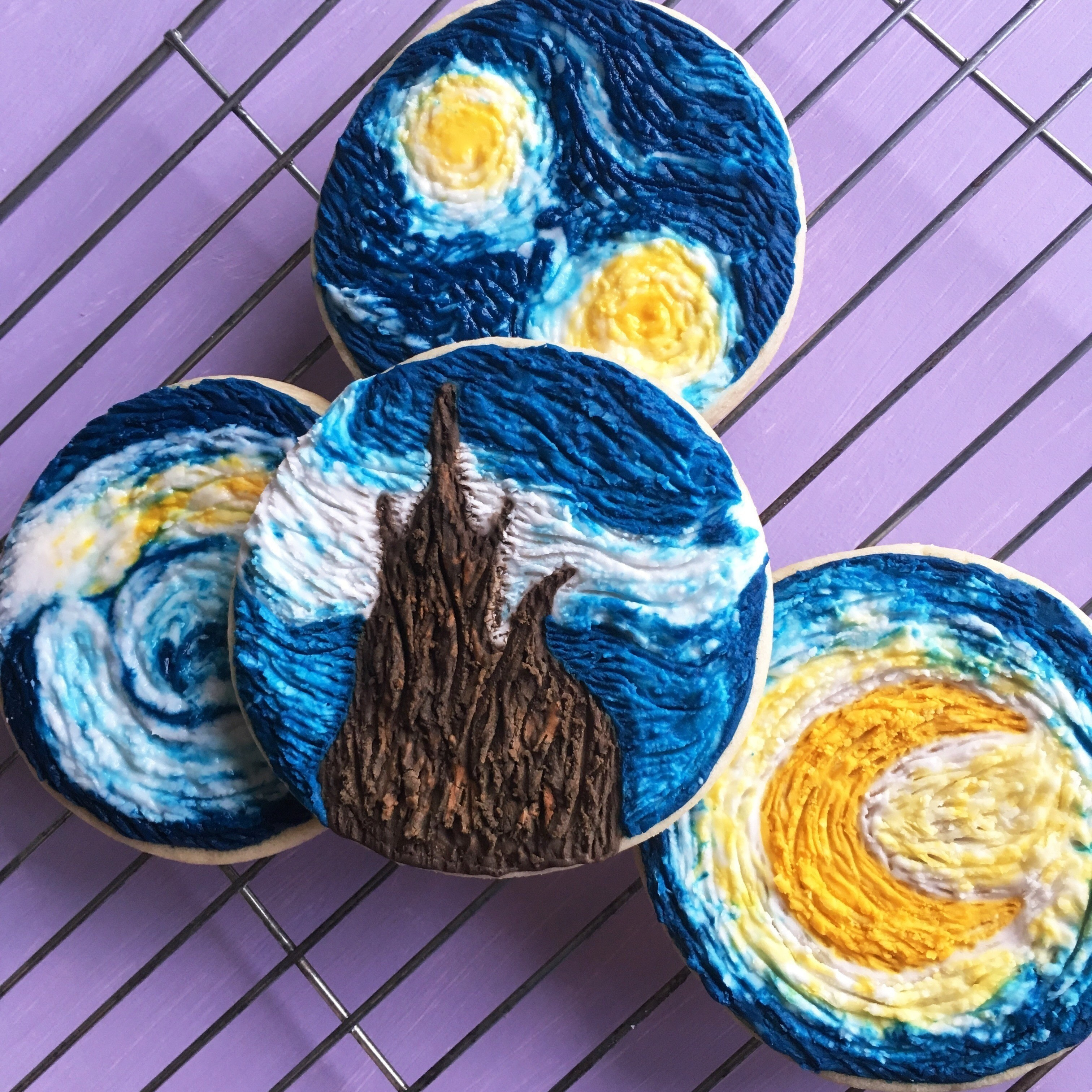 How To Make Starry Night Inspired Cookies · How To Make Decorative ...