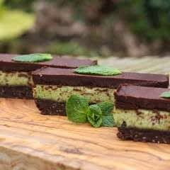 Mint Choc chip slices
