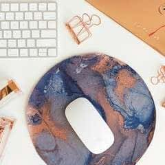 Marbled Leather Mouse Pad